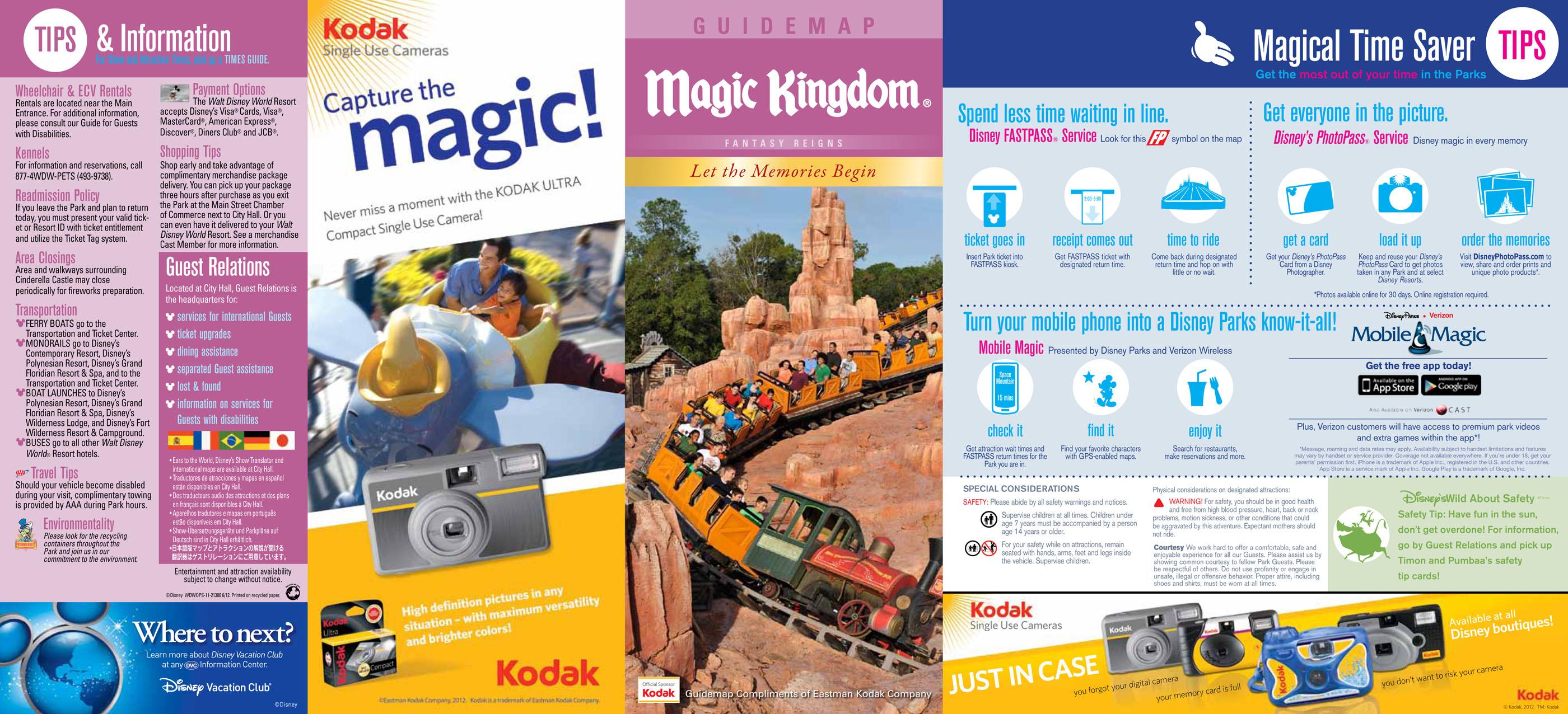 Park Map - Magic Kingdom (June 2012) - Park Maps - Fort Fiends
