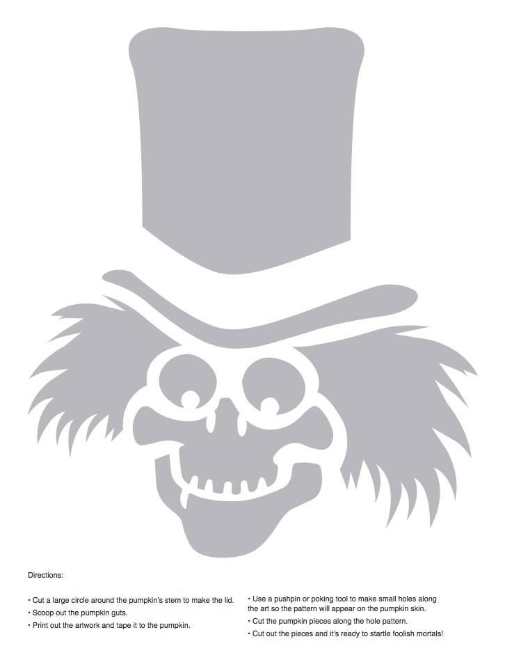 Haunted mansion ghosts stencils for pumpkin carving crafting ghost1g maxwellsz